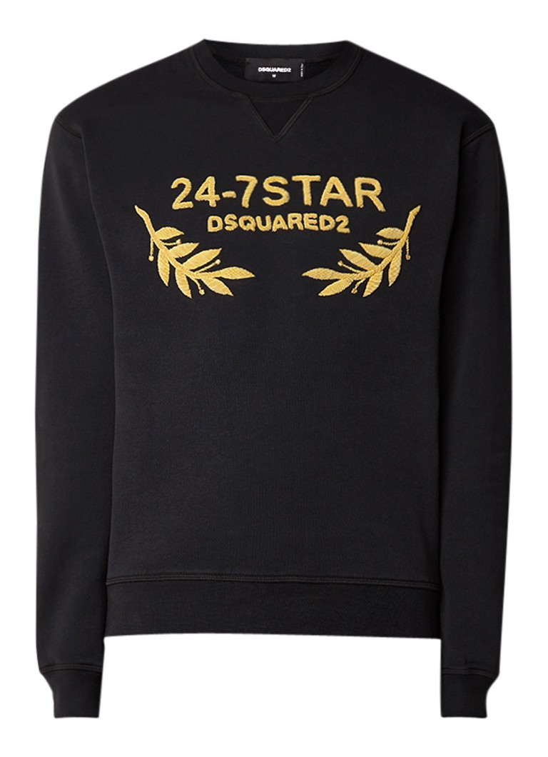 Image of Dsquared2 24-7 Star Fleece Sweater met logoborduring