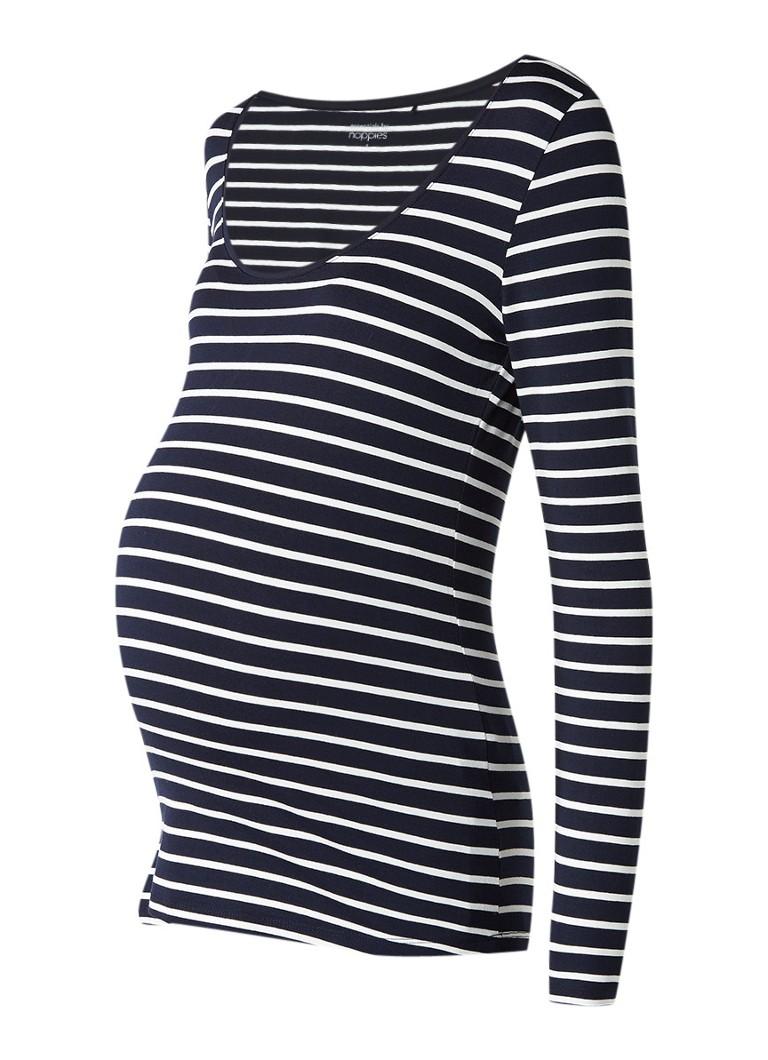 Noppies Lely zwangerschapslongsleeve met streepdessin