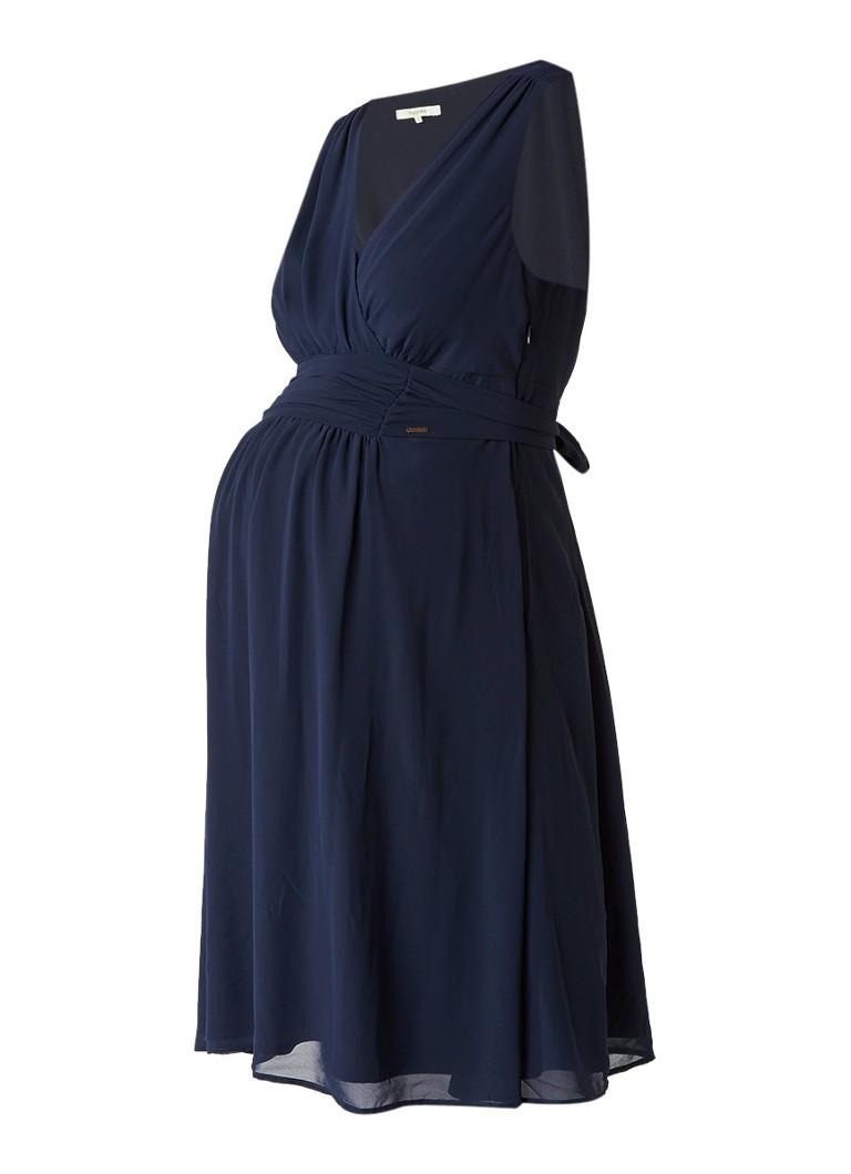 Noppies Liane zwangerschapsjurk met draperie donkerblauw