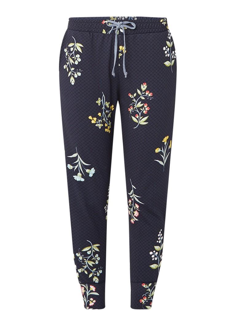Pip Studio Buiter Winter Wonderland pyjamabroek met bloemendessin