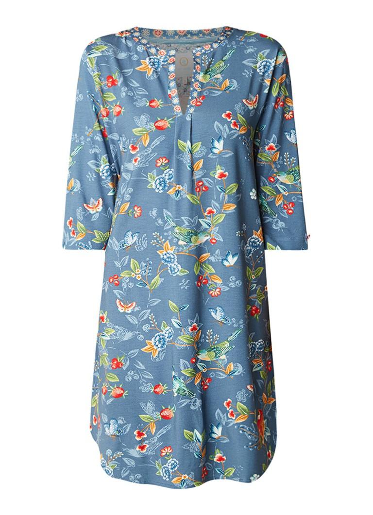 Pip Studio Drew Birdy nachthemd met bloemendessin
