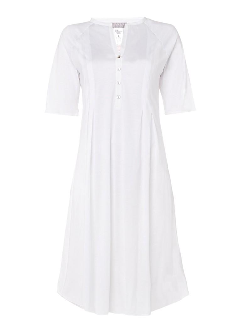 Hanro Nachthemd Cotton deluxe met halflange mouwen