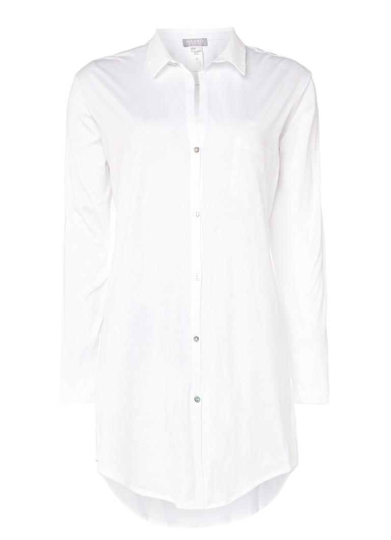 Hanro Wit nachthemd Cotton Deluxe