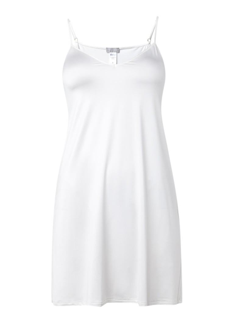 Hanro Witte chemise Satin Deluxe