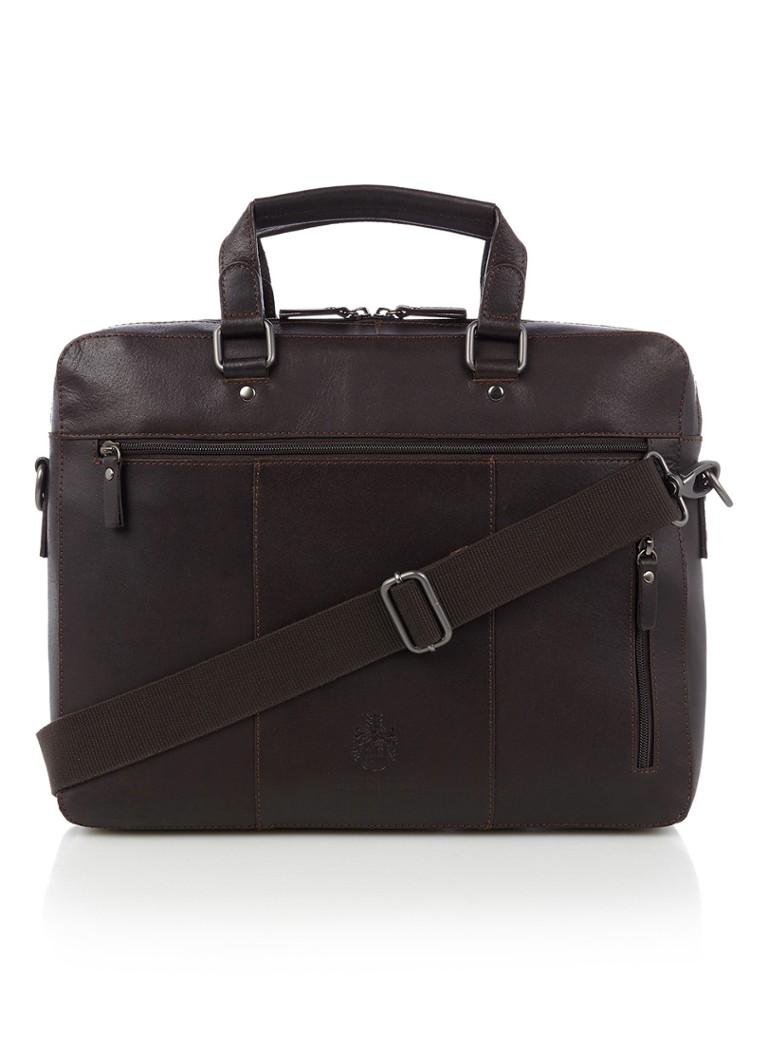 Tassen Leonhard Heyden Dakota businesstas van leer met laptopvak 15 inch Donkerbruin