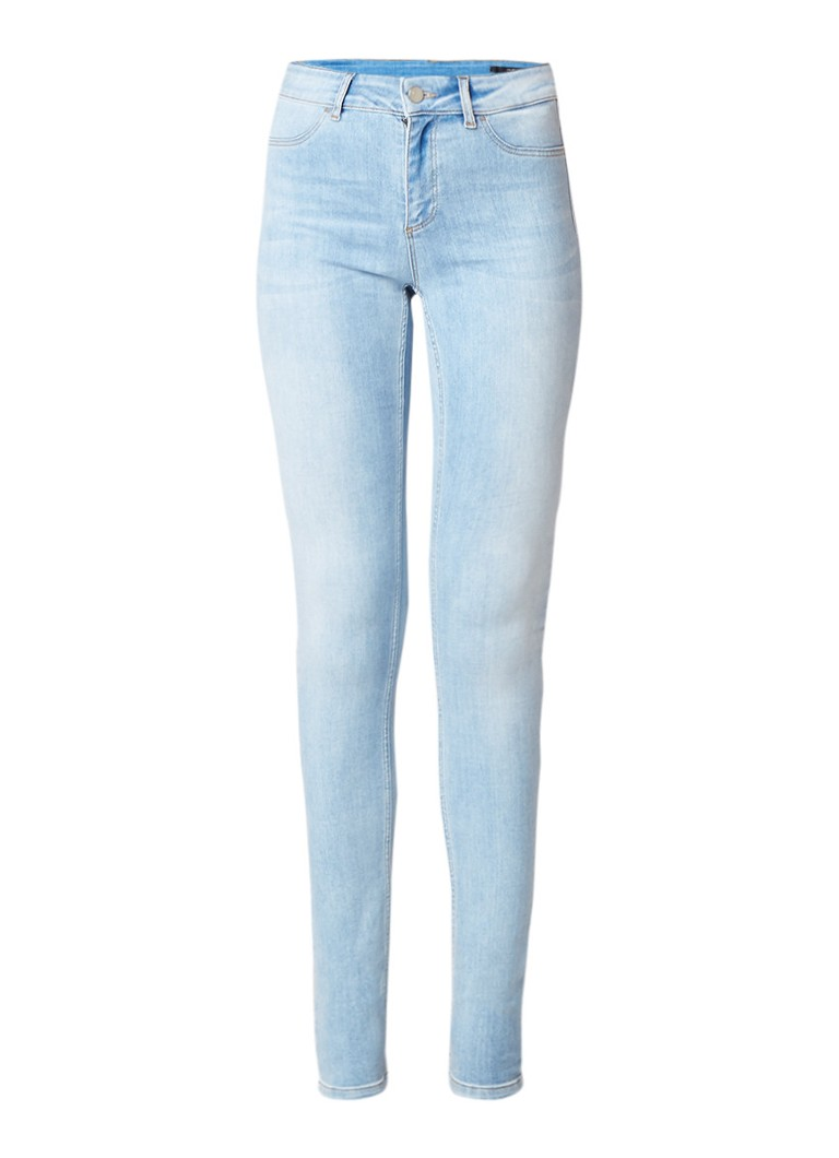 SET High waist skinny fit jeans met lichte wassing