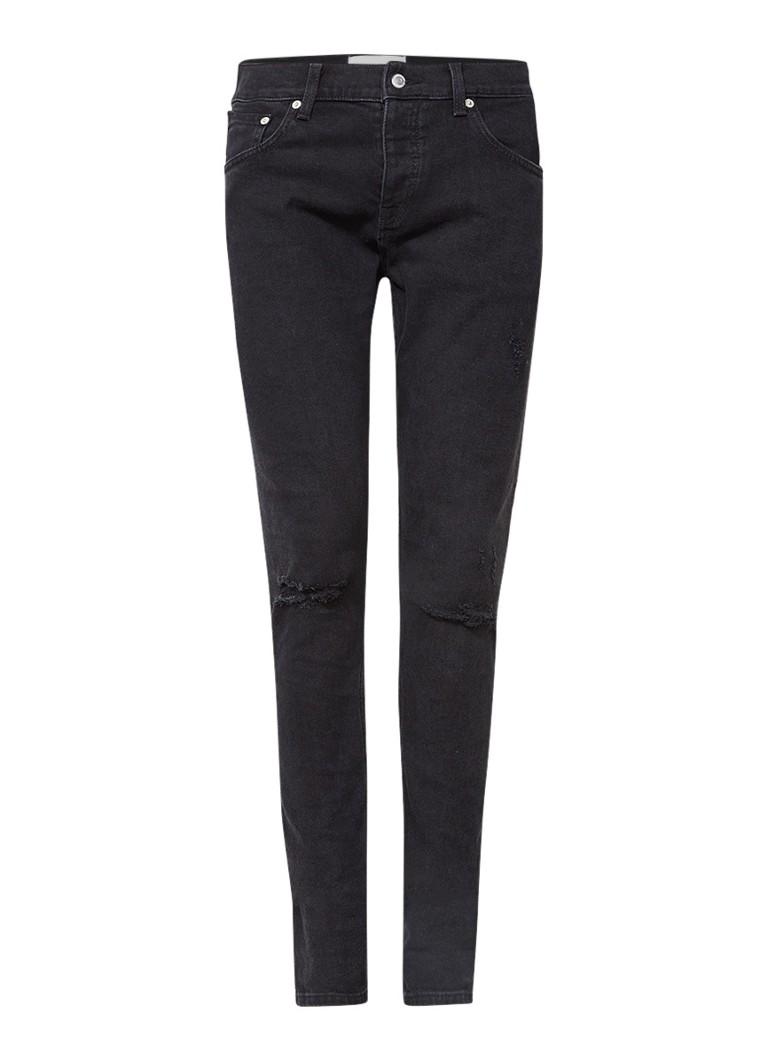 Sandro Mid rise skinny fit jeans met destroyed details