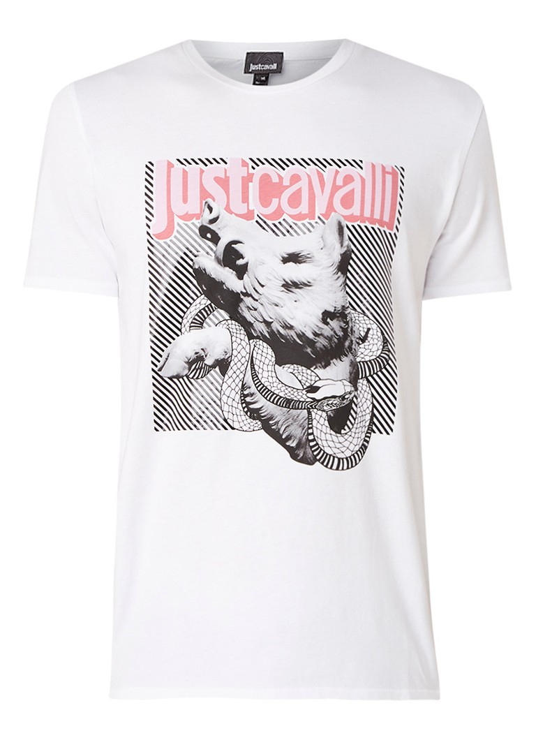 Image of Just Cavalli Dragon T-shirt met grafische frontprint