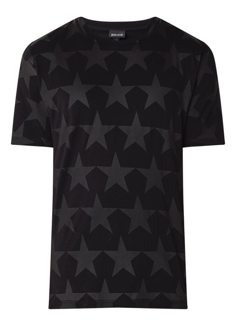 Just Cavalli Stars T-shirt met opdruk