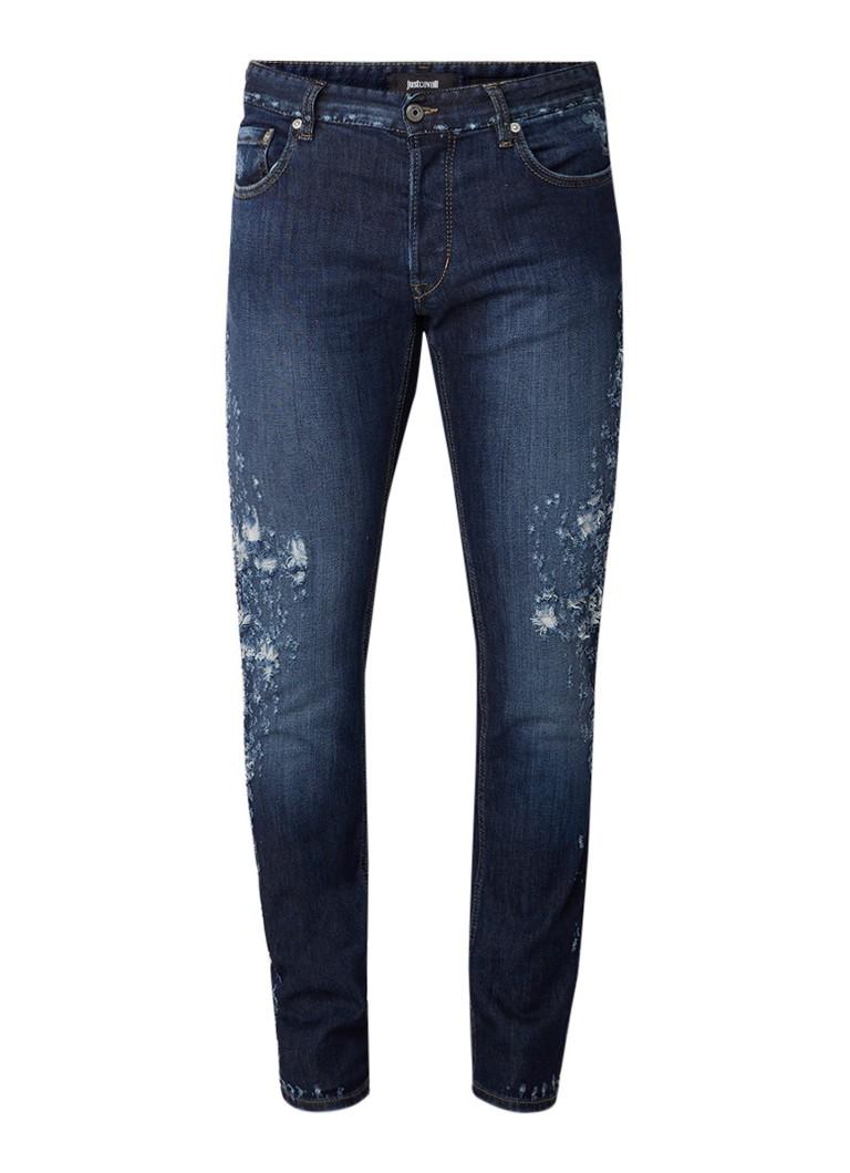 Just Cavalli Slim fit jeans met destroyed details
