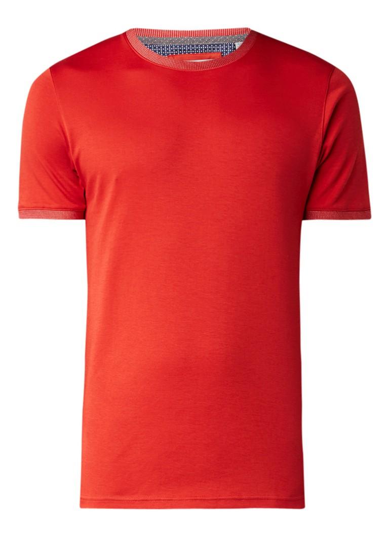Ted Baker T-shirt met contrastbies