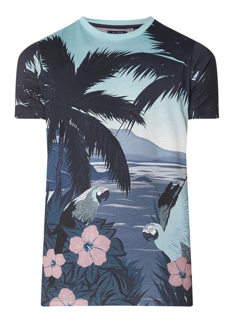 Ted Baker Pedrop T-shirt met tropisch dessin