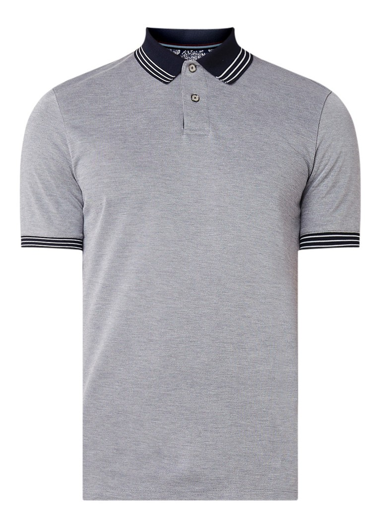 Image of Ted Baker Rings Soft Touch slim fit polo met getipte boorden