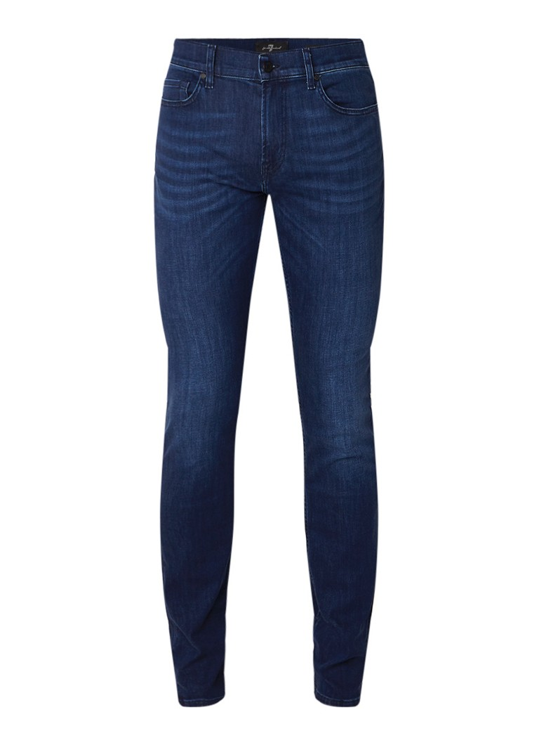 7 For All Mankind Ronnie slim fit jeans met donkere wassing