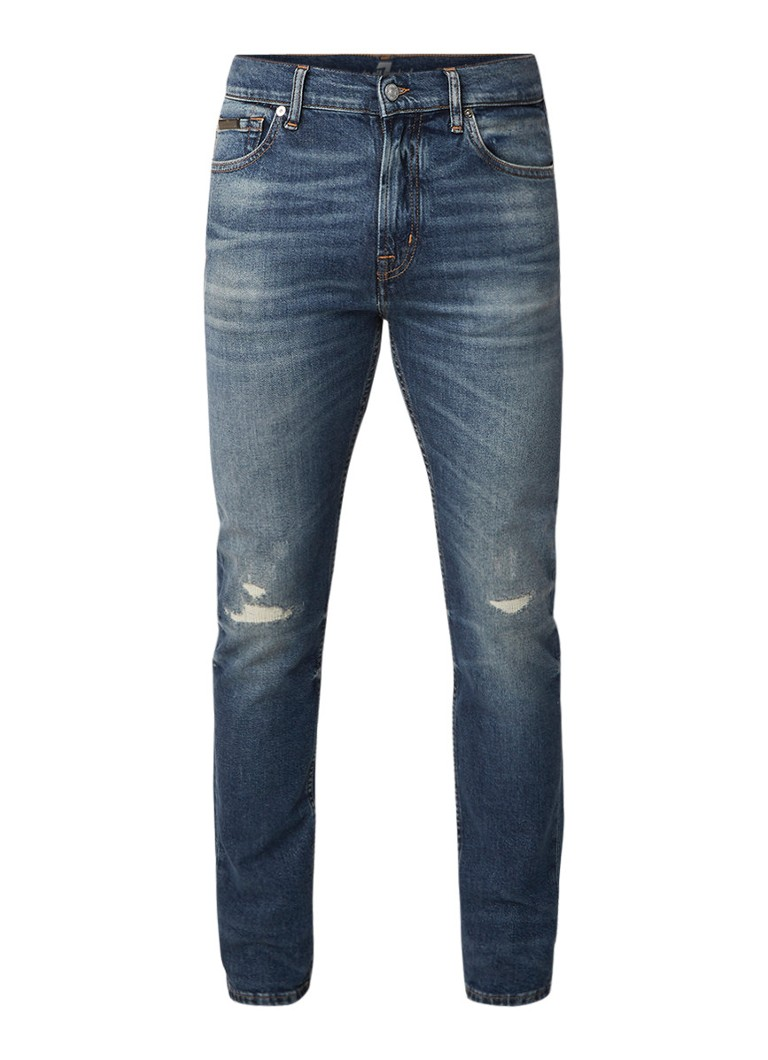 7 For All Mankind Ronnie slim fit jeans met medium wassing