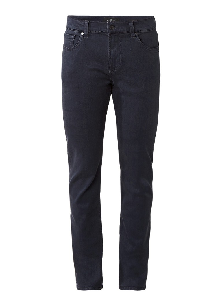 7 For All Mankind Ronny mid rise skinny fit jeans in donkere wassing