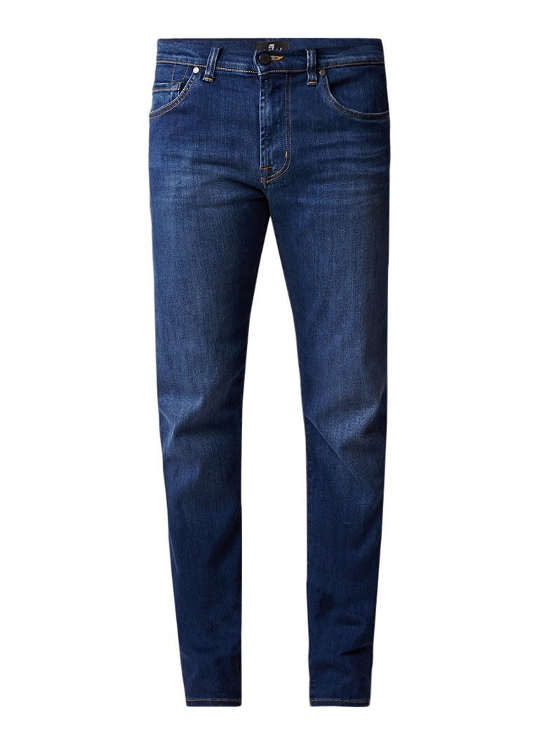 7 For All Mankind Kayden mid rise slim fit jeans met faded look