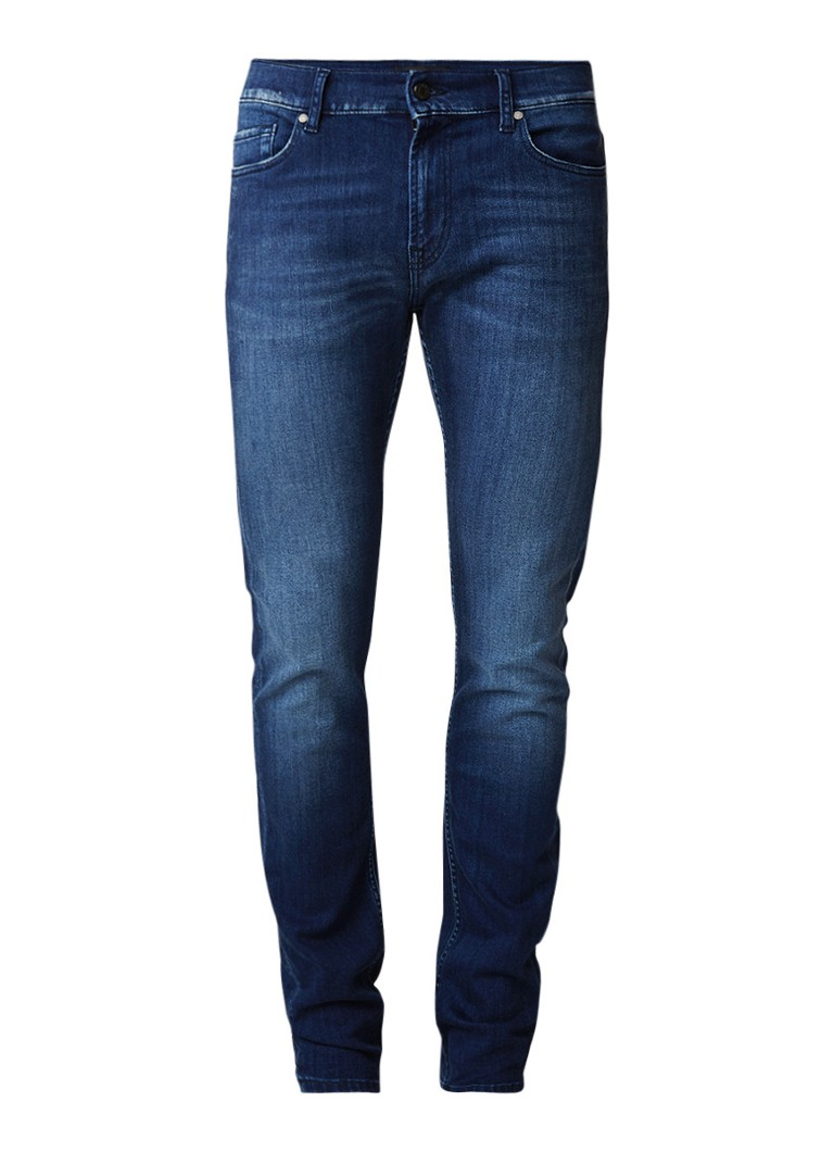 7 For All Mankind Ronnie skinny fit jeans met vintage wassing