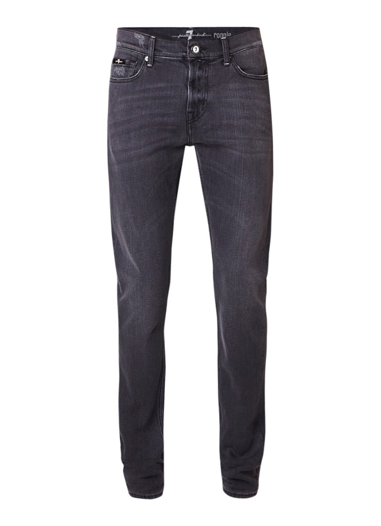 7 For All Mankind Ronnie straight fit jeans met donkere wassing