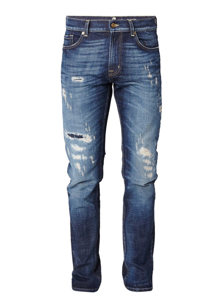 7 For All Mankind Ronnie skinny jeans met destroyed details