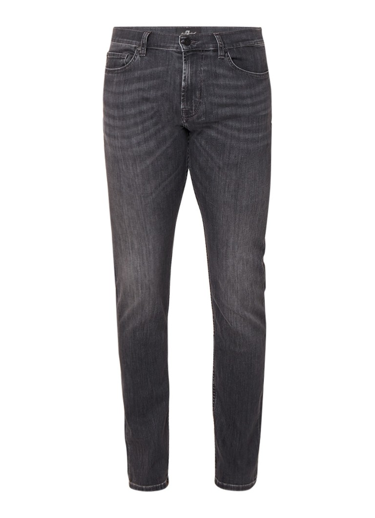 7 For All Mankind Ronnie skinny fit jeans met faded look