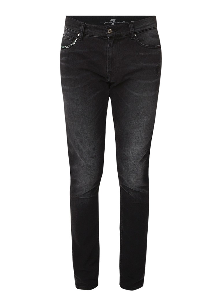 7 For All Mankind Ronnie skinny fit jeans met Black Saloon wassing