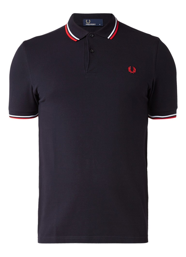 Fred Perry M3600 polo met getipte boorden
