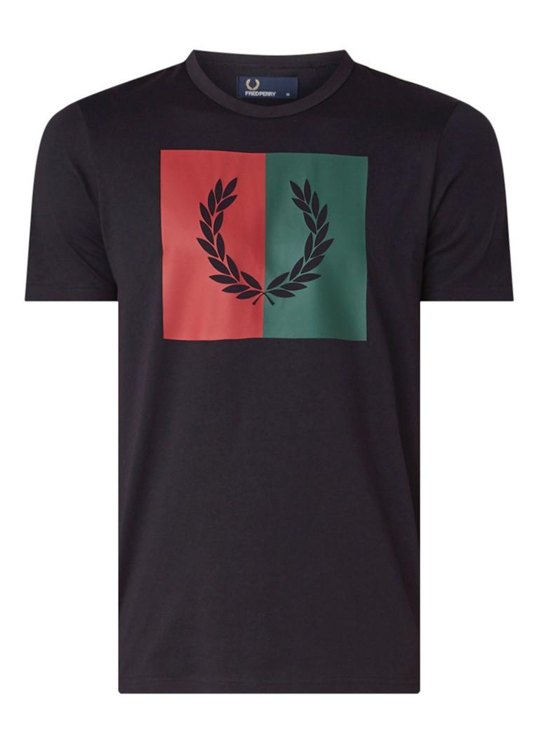 Image of Fred Perry Laurel T-shirt met logoprint
