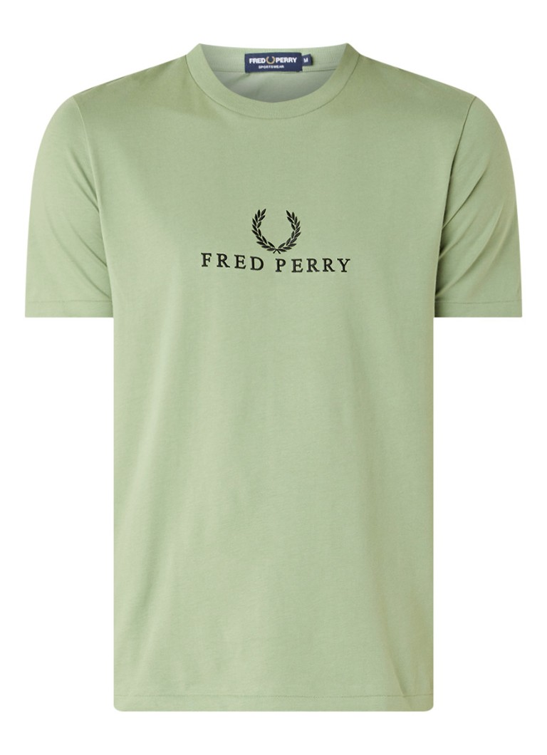 Image of Fred Perry T-shirt met logoborduring