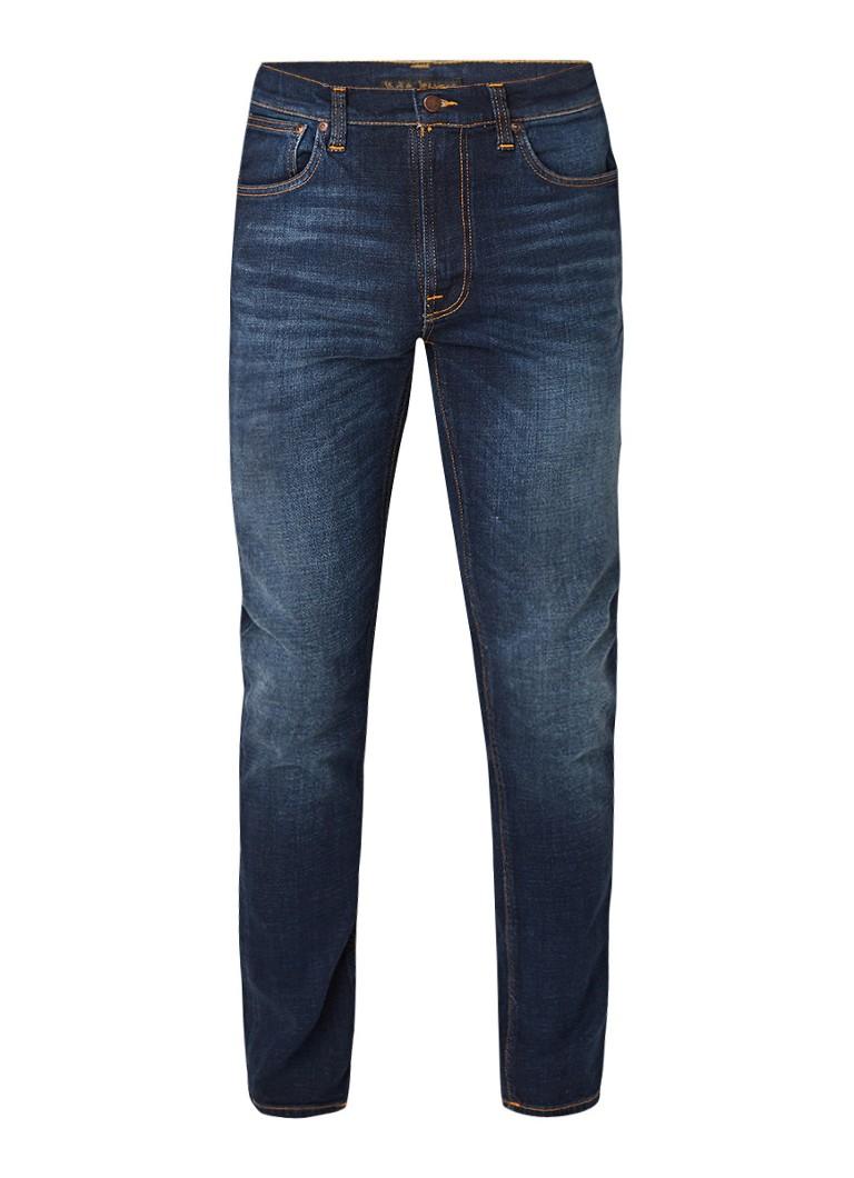 Image of Nudie Jeans Lean Dean slim fit jeans met donkere wassing