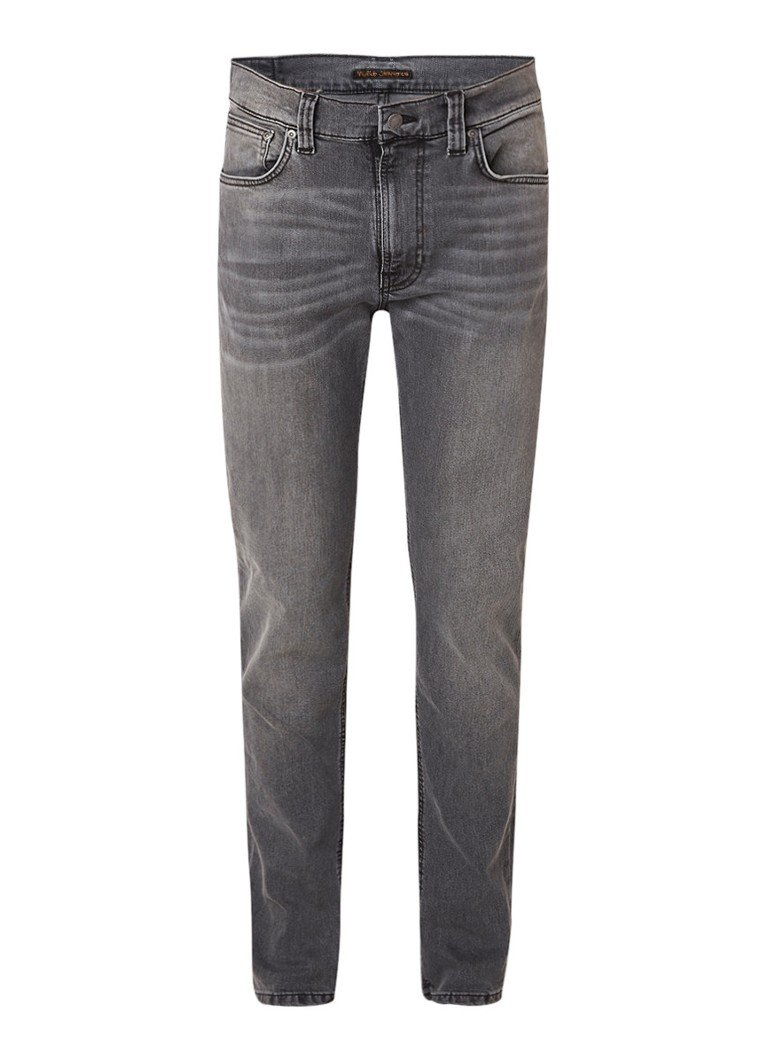 Image of Nudie Jeans Lean Dean slim fit faded jeans