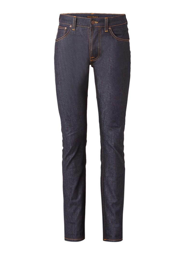 Nudie Jeans Tilted Tor ongewassen mid rise slim fit jeans
