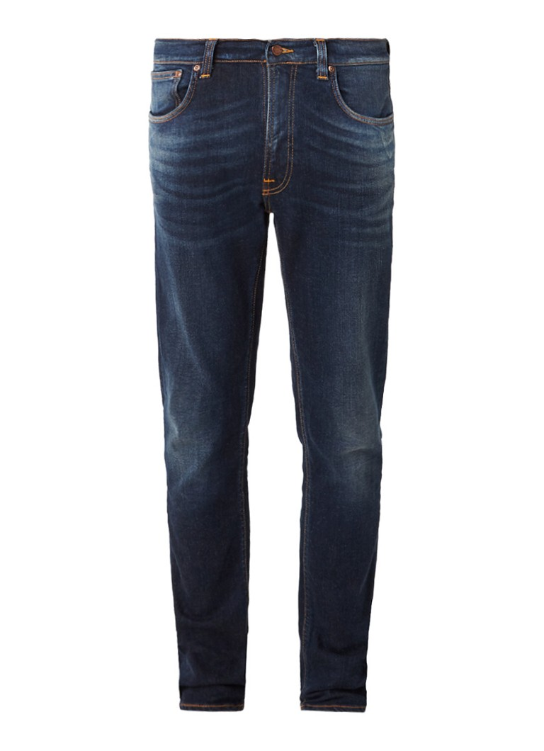 Nudie Jeans Lean dean endorsed straight fit jeans van organisch katoen
