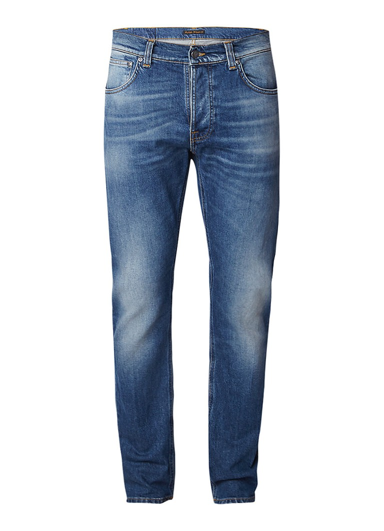 Nudie Jeans Dude Dan high rise straight fit jeans