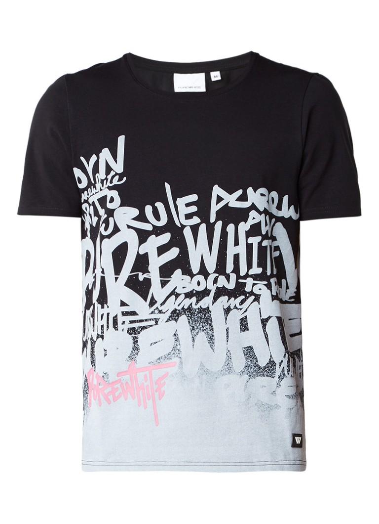 Purewhite T-shirt met grafische logoprint