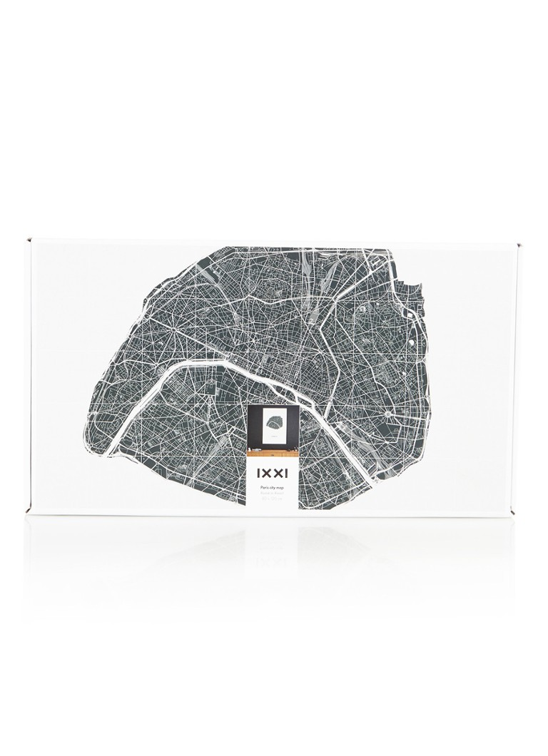Ixxi Paris City Map wanddecoratie 80 x 120 cm