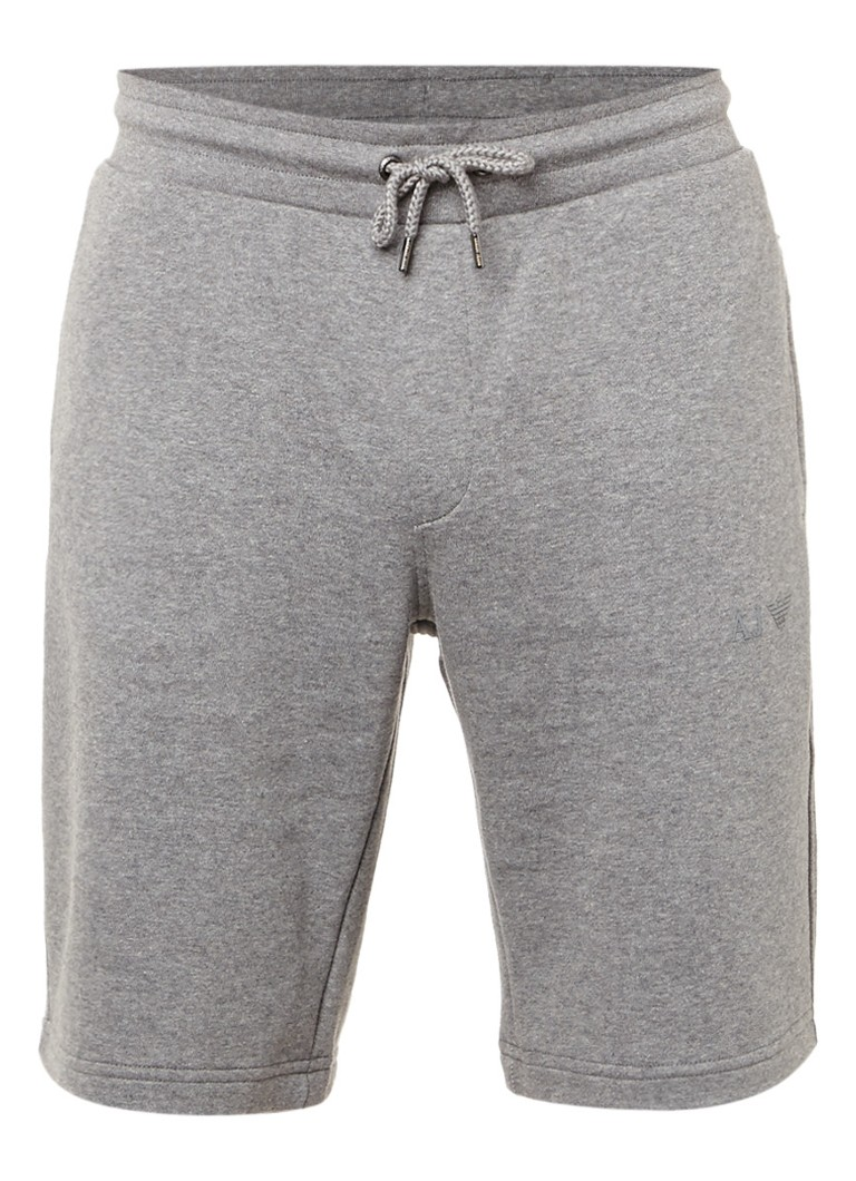 Armani Gemêleerde shorts van sweatstof met ritszakken