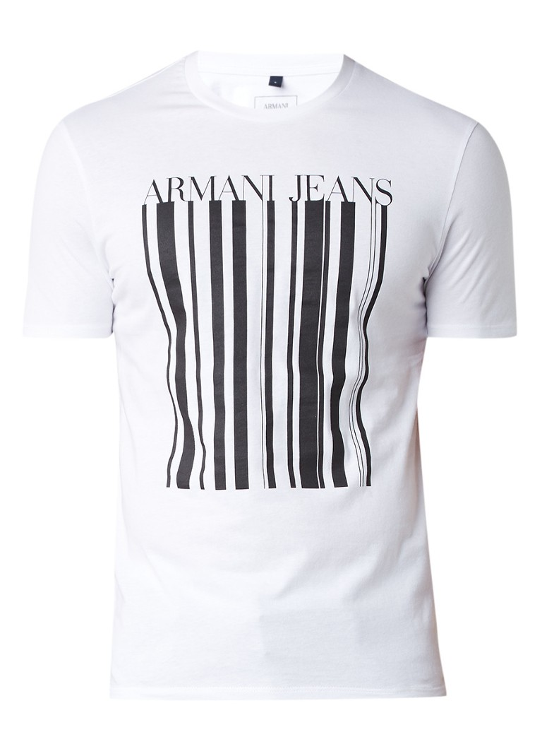 Armani T-shirt met grafische logoprint