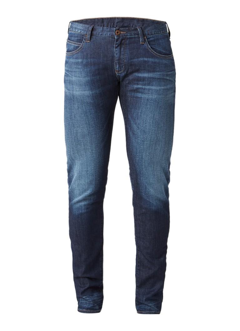 Armani J10 mid rise slim fit jeans met stretch