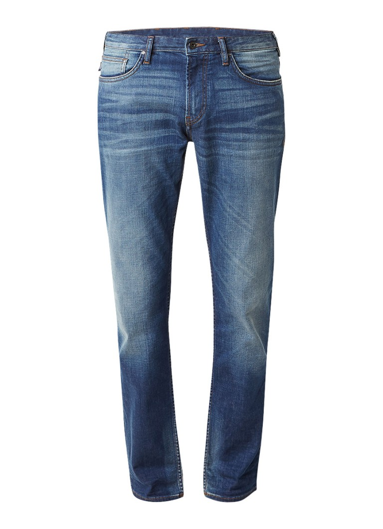 Armani Mid rise 5-pocket jeans met faded details