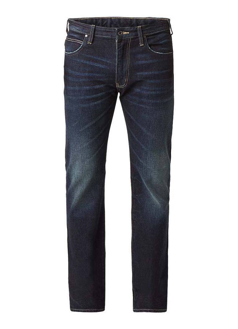 Armani High rise straight fit jeans