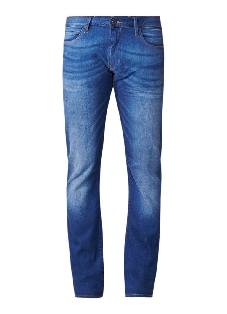 Armani Low rise slim fit jeans met faded look
