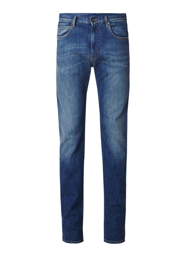 Armani Straight fit jeans met medium wassing