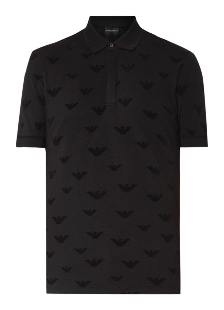 Armani Polo met all over logo flockprint
