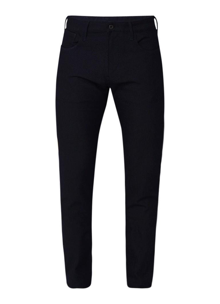 Armani Mid rise straight fit 5 pocket jeans met structuur