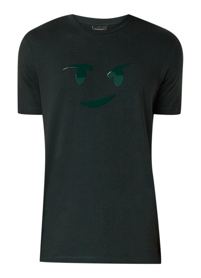 Armani Armani T-shirt met ronde hals en smiley