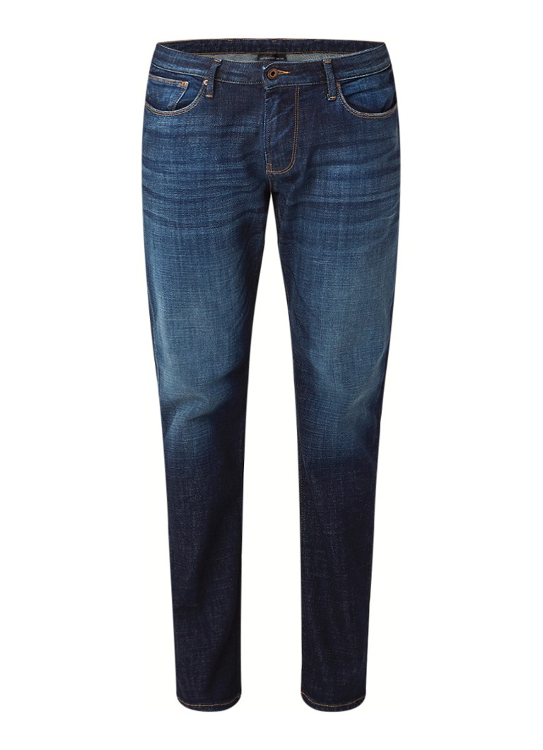 Armani Armani Mid rise slim fit jeans met donkere wassing