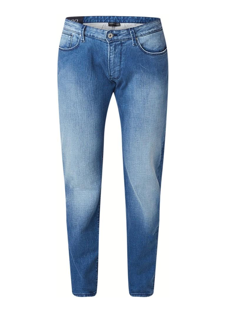 Armani J11 straight fit jeans met stretch