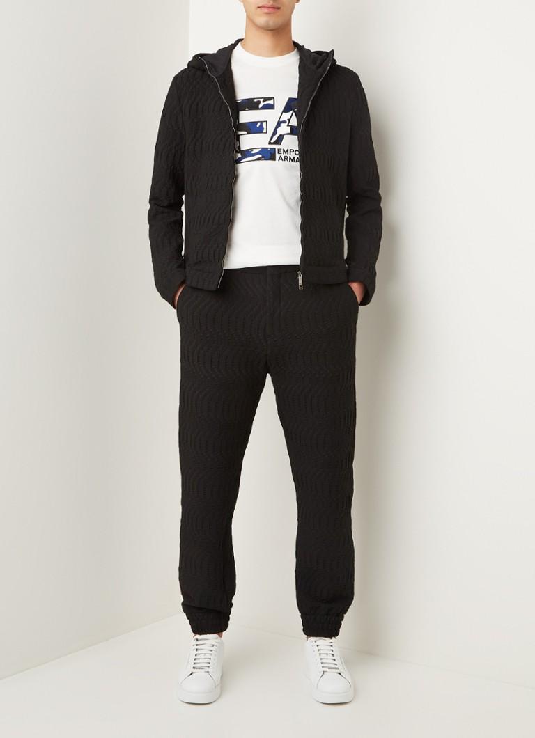 Emporio Armani Tapered fit pantalon met structuur