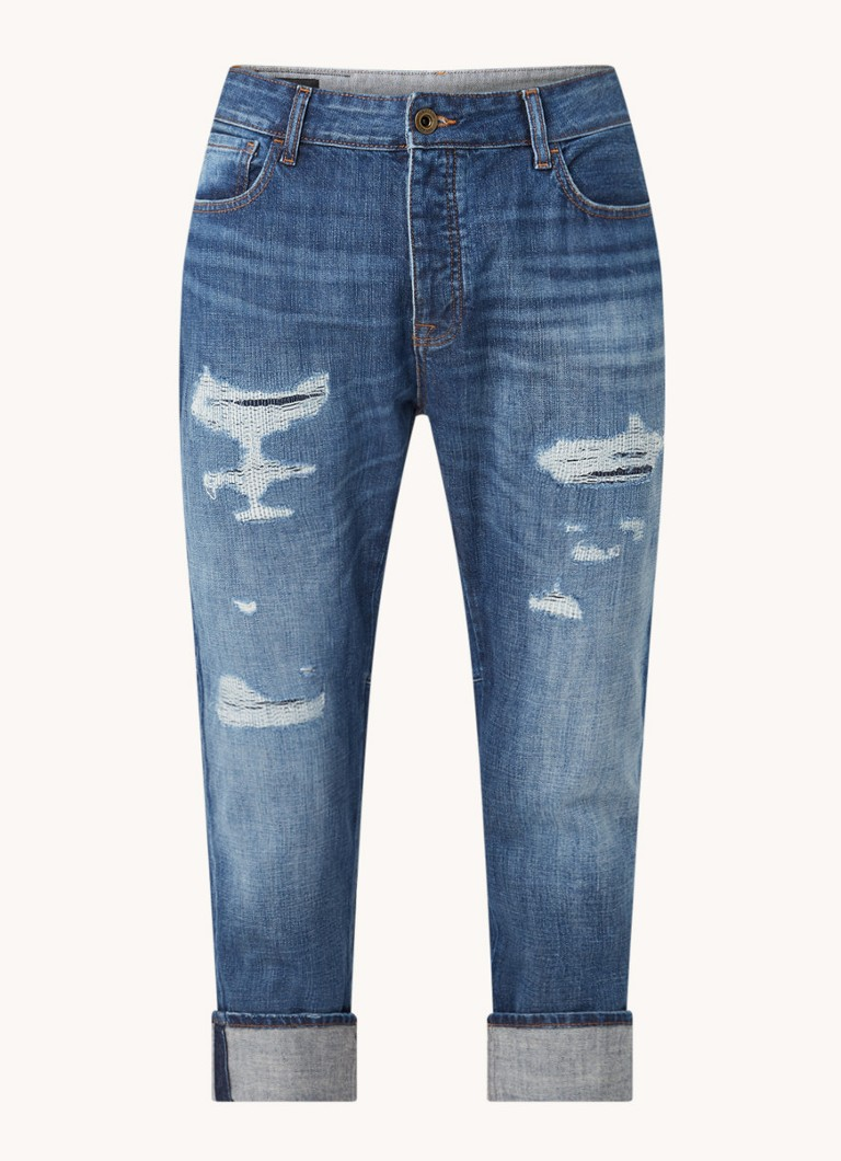 Emporio Armani Straight fit jeans met ripped details